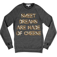 Bow & Drape, sweatshirts, comfy shirts, weekend wear, lounge, soft shirts, customized, cheese, brie, cheesy, sayings, cheeky, fun