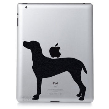 Dog Silhouette Mac Decal - Velvet Pointer Laptop Sticker - English Pointer Wall Decor - Animal Decals