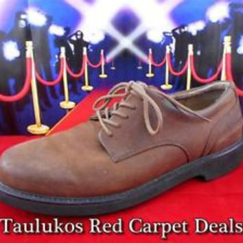 Mens shoes ROCKPORT Suede LEATHER Oxford Casual Office Dress tie Lace-Up 10 M