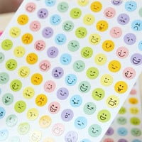 happy face sticker facial expression funny emoticons happy smiley face cartoon face deco diary special mail handmade gift card scrapbook