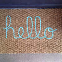 Hello welcome mat