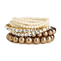 H&M - 7-pack Bracelets - Gold - Ladies