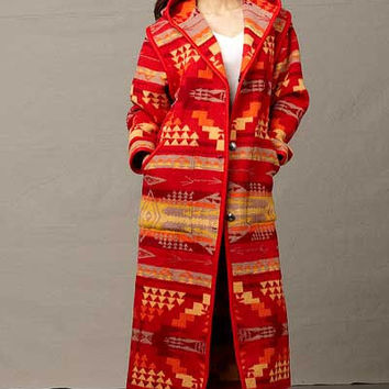 Native Jackets, Reversible Long Coat, Satus Creek, Red, Pendleton® Jacket