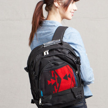 Pendleton ® Wool Fabric Back Pack Spirit of the Peoples Scarlet
