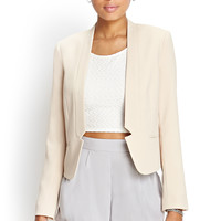 Collarless Notched Blazer