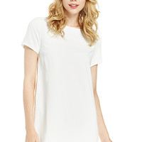 DailyLook: Zippered Shift Dress in White S - L