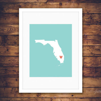 Florida State DIY Art Print