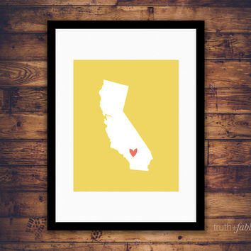 California State DIY Art Print