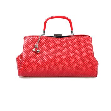 Red Quilted Cherry Bomb Purse