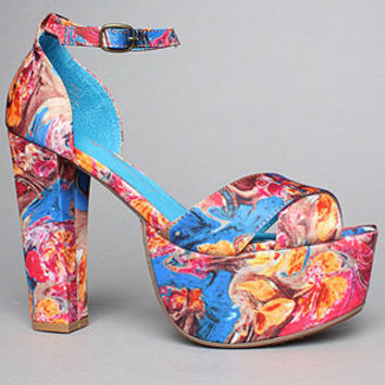 The El Carmen Shoe in Blue Fuchsia Combo by Jeffrey Campbell Shoes | Karmaloop.com - Global Concrete Culture