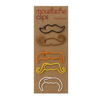 Moustache Paper Clips at the Bibelot Shops