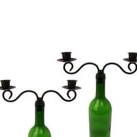 Wine Bottle Taper Candleholder at the Bibelot Shops