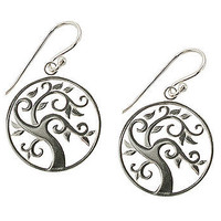 Framed Swirling Tree Earrings at the Bibelot Shops