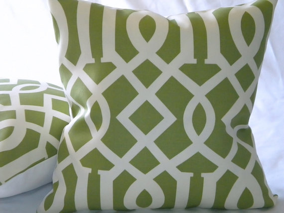 Trellis Accent Pillow Indoor/Outdoor by MicaBlue on Etsy