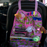 Girls Happy Frog Car Organizer by babygirlscreations on Etsy
