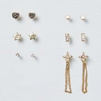 AEO Women's Mixed Metal Earring 6-pack (Gold)
