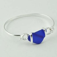Wrapped Sea Glass Alpaca Bracelet