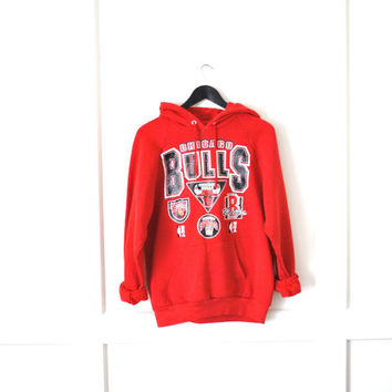 vintage chicago bulls hoodie sweatshirt unisex medium