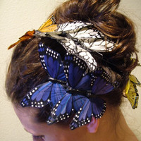 Butterfly hair combs tiara headbands by RetroVintageWeddings