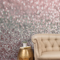 Lisa Argyropoulos Girly Pink Snowfall Tapestry