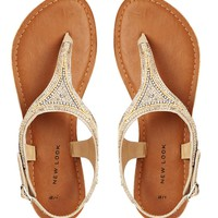 Fallen Leather Toe Post Flat Sandals