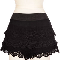 Noir Lace Bloomer Shorts