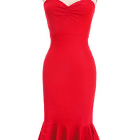 Red Hot Sultry Shimmy Dress