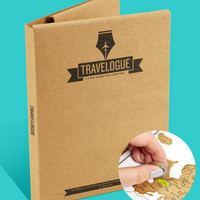FredFlare.com - Scratch Map Travel Journal - Travelogue Journal