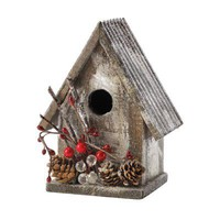Winter Cottage Birdhouse  D1178 - Birdhouses