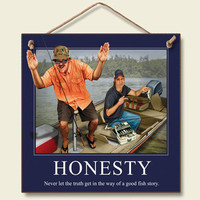 Honesty Wood Wall Sign : Log Cabin Styles