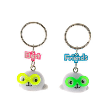Best Friends Geeky Seal Keyrings
