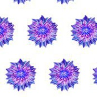 Encaustic_Flower fabric by vargamari at Spoonflower - custom fabric