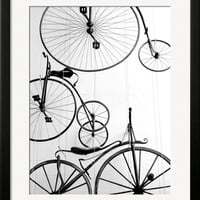 Bicycle Display at Swiss Transport Museum, Lucerne, Switzerland Photographic Print by Walter Bibikow at Art.com