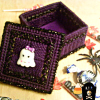Kawaii Halloween Ghost Trinket Box