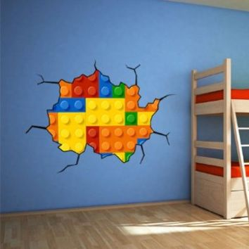 Lego Wall Decal for Housewares - 59.1 X 39.4 Inches