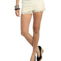 Crochet Tiered Short | Shop Trending Now at Wet Seal