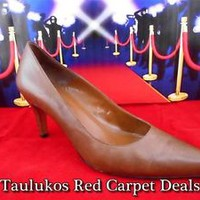 "Womens shoes BANDOLINO ""Riverside"" High Heels Pumps BROWN Stiletto LEATHER 8.5 M"