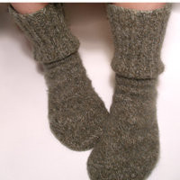 DIY socks from a sweater!