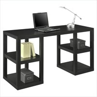 "Altra Furniture 60"" Deluxe Parsons Desk with Shelves for Home Office"