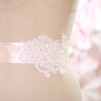 Lace Bridal Sash Great addition to your by TheLittleWhiteDress