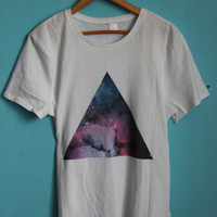 galactic  triangle  t  shirt by EkaterinaWolf on Etsy