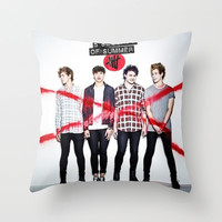 5sos album cover Throw Pillow by kikabarros