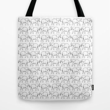 March of the Elephants Tote Bag by Halfmoon Industries