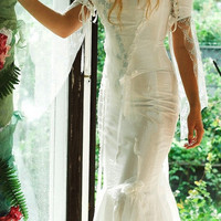 Romantic Alternative Sexy White Wedding Gown with by KataKovacs