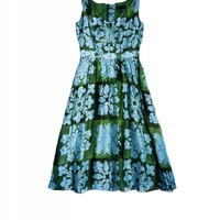 Cynthia Rowley - Hawaiian Quilt V-Neck Dress | Cynthia Rowley Dresses