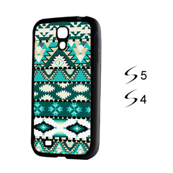 Aztec Green Stripes Samsung Galaxy S5 and Galaxy S4 Case | ACYC