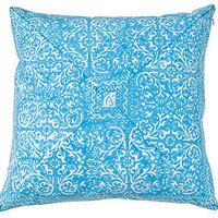 Blue Hand-Block-Printed Pillow Cover