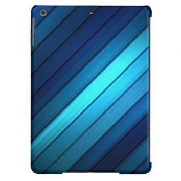 Hues of Blues Striped iPad Air Cases