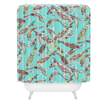 Sharon Turner Lucky Koi Shower Curtain ~ 10% off with code: sharonturner