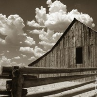 Fence and Barn Photographic Print by Aaron Horowitz at Art.com